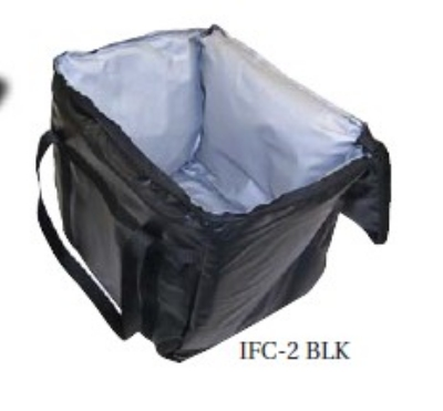 Intedge CIFC20BK Cadura Nylon Insulated Food Carrier, 20 x 20 x 12-in, Black