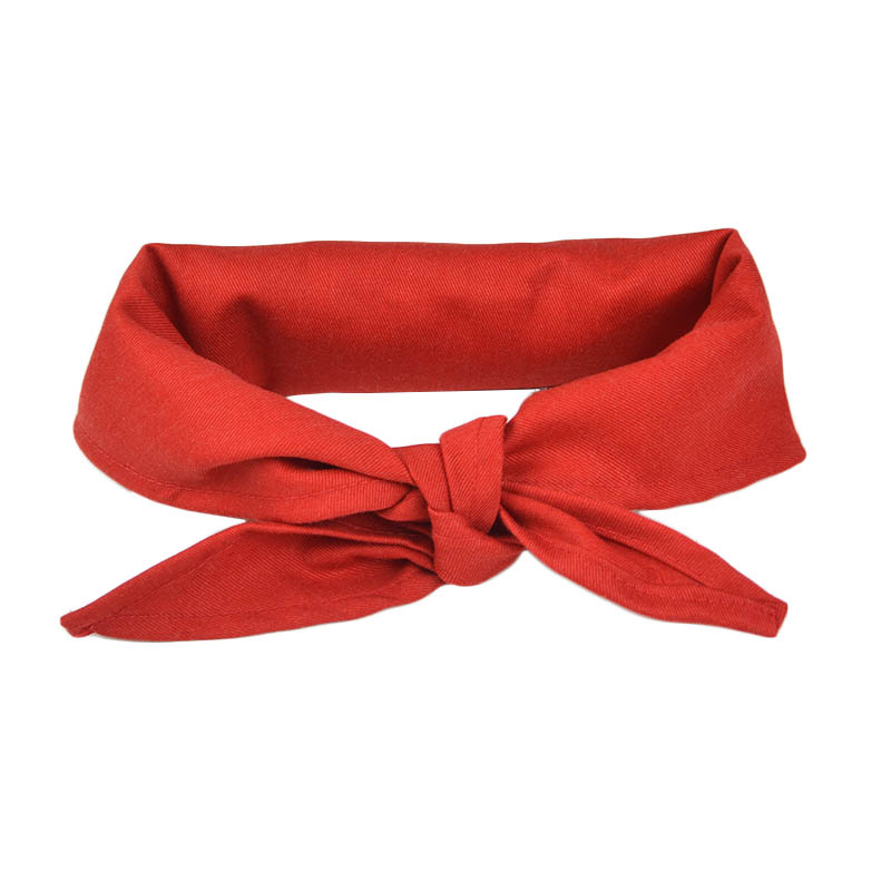 Intedge CK1R Chef Kerchief, 14 x 37-in, Red