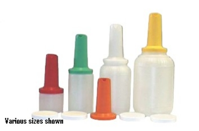 Intedge EZ128 Y 128-oz EZ Serve Bottle w/ 1-Piece Neck & Spout, Yellow