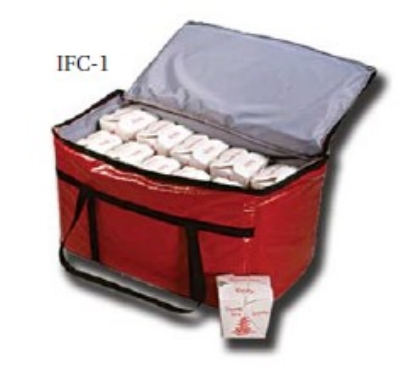"Intedge IFC-6 R Insulated 6-Pack Carrier, 8.5 x 6 x 6"", Red"