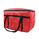 "Intedge IFC1R Insulated Food Carrier, 20x 12x 12"", Red"