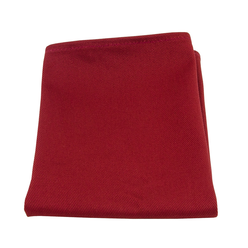 "Intedge NCM1818 BU 18"" Square Napkin w/ Hemmed Edge, Burgundy"