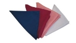 "Intedge NCM2222 R 22"" Square Napkin w/ Hemmed Edge, Red"