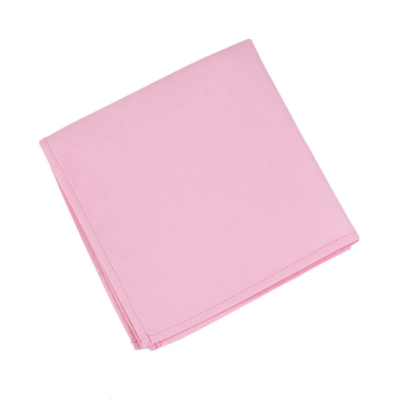 "Intedge NCM1818 LP 18"" Square Napkin w/ Hemmed Edge, Light Pink"