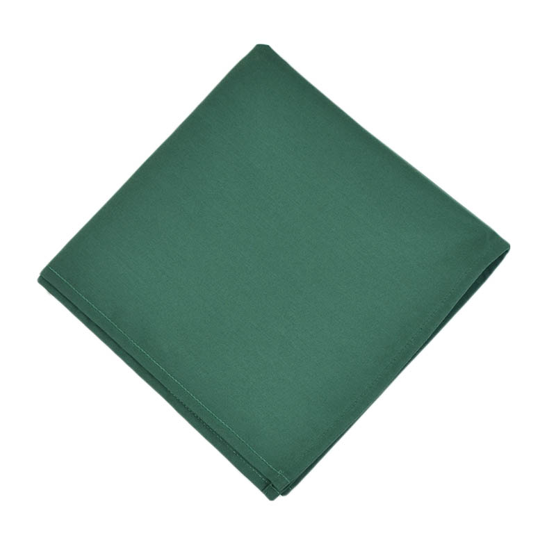 "Intedge NCM2020 HG 20"" Square Napkin w/ Hemmed Edge, Hunter Green"