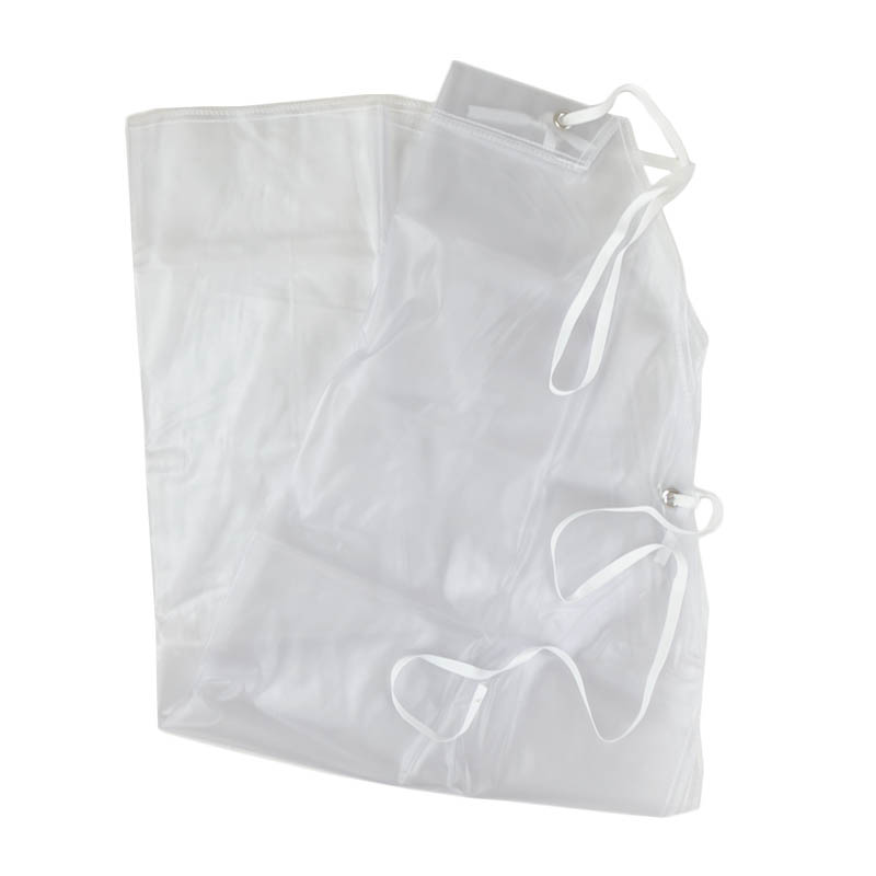 Intedge PDWA Plastic Dishwasher Apron, Clear, Nylon Ties