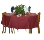 "Intedge TCM9090 BU 90"" Square Tablecloth w/ Hemmed Edge, Burgundy"