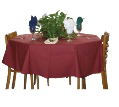 Intedge TCM4545 I 45-in Square Tablecloth w/ Hemmed Edge, Ivory