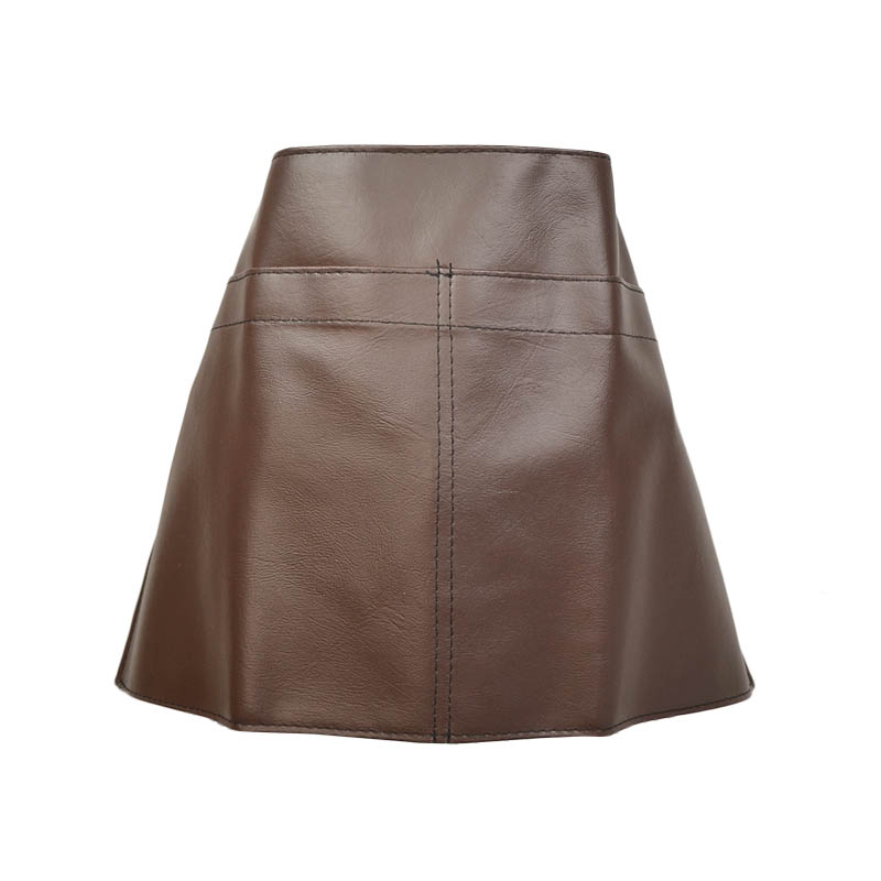 Intedge V114 Vinyl Waist Apron Heavy Duty, Brown Leather Look, 18 x 26 in