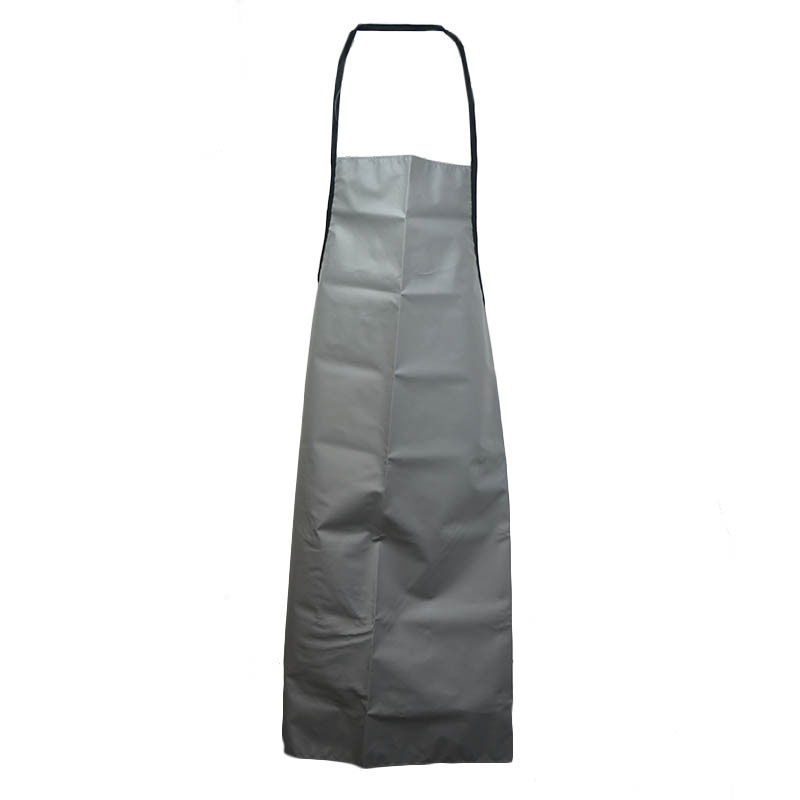"Intedge VDWA GR Heavy Duty Vinyl Dishwashing Apron w/ Removable Ties, 36 x 42"", Grey"