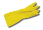 Intedge YFG L 17-in Yellow Latex Glove w/ Textured Palm, Flock Lined, Large