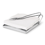 Cuisipro 74-6781 Stainless Steel Napkin Holder With Pendulum Arm