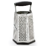 Cuisipro 746877 6-Sided Box Grater w/ Surface Glide Technology & Ginger Grater