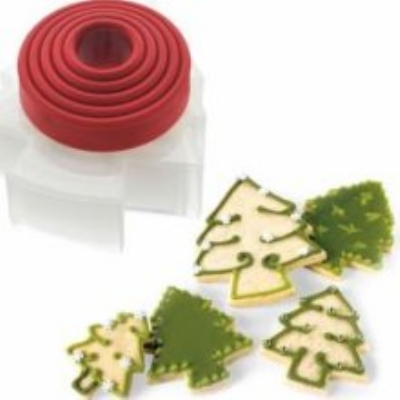 Cuisipro 74-709505 Five Piece Christmas Tree Cookie Cutter Set