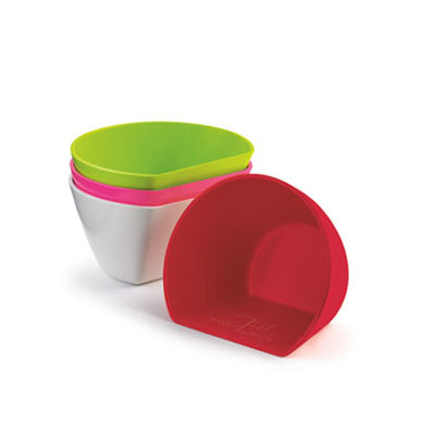 Cuisipro 74-7309 Set of 4 Small Scoop Bowls w/ 3/4-cup Capacity