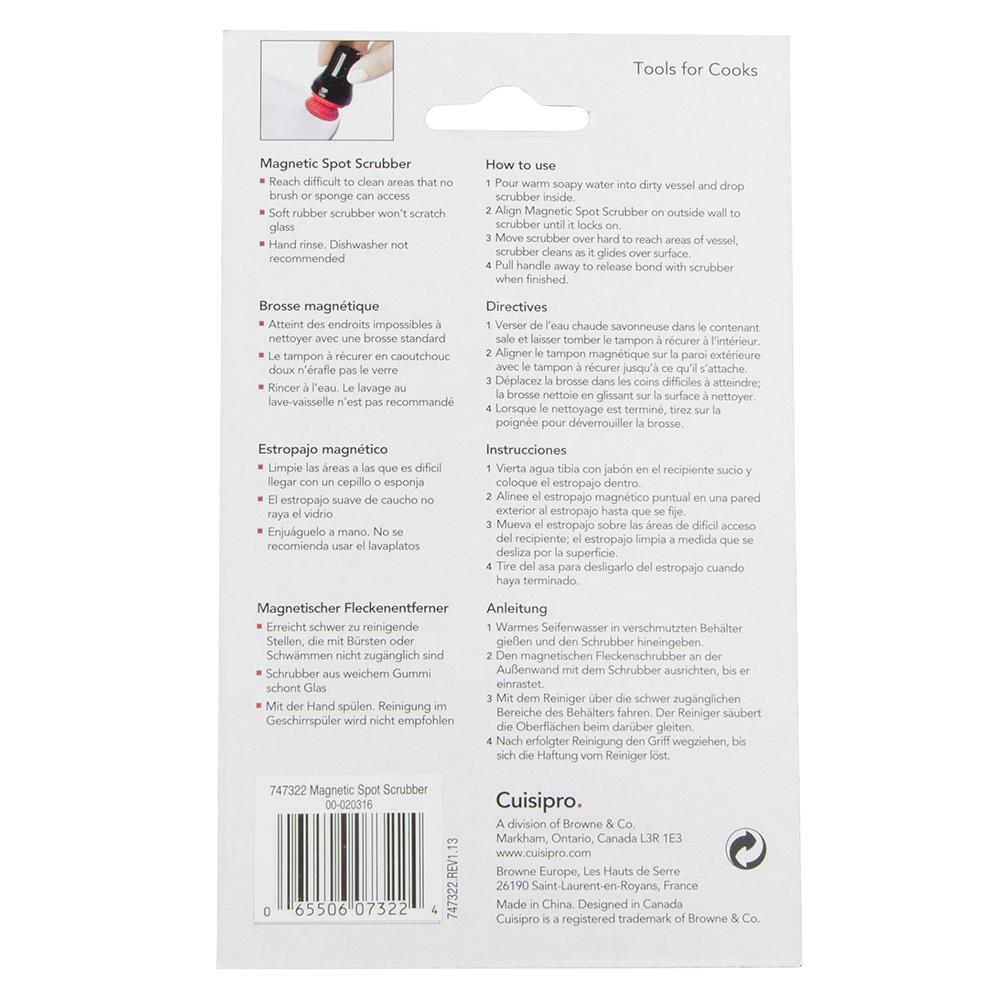 Cuisipro 74-7322 Magnet Spot Scrubber - Scratch-Resistant, Black