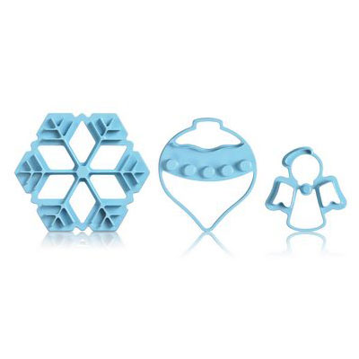 Cuisipro 74-7336 Christmas Cookie Cutter Set w/ Snowflake, Ornament, and Angel