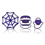 Cuisipro 74-7339 Halloween Imprint Cookie Cutter Set w/ Web, Frankenstein, and Ghost