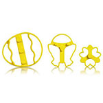 Cuisipro 74-7340 Easter Imprint Cookie Cutter Set w/ Egg, Chick, and Flower