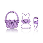 Cuisipro 74-7341 Easter Imprint Cookie Cutter Set w/ Basket, Bunny, and Carrot