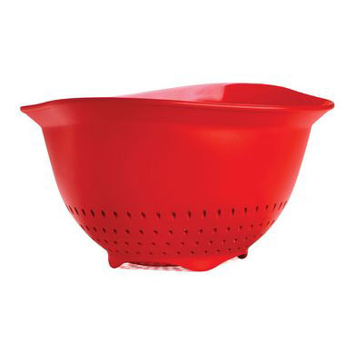 Cuisipro 74-7356 3-qt Colander w/ Ergonomic Design, BPA Free, Red