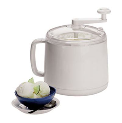 Cuisipro 837450 Donvier Ice Cream Maker, White