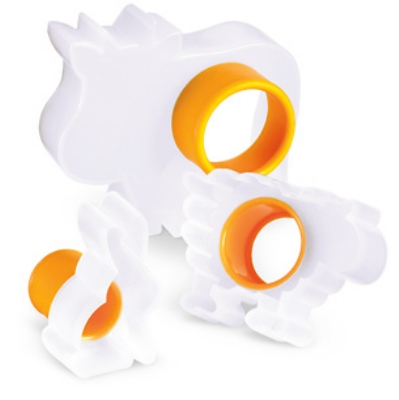 Cuisipro 74-713317 Three Piece Farm Animal Cookie Cutter Set