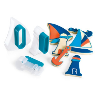 Cuisipro 74-713103 Three Piece Nautical Cookie Cutter Set