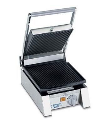 Dito Electrolux 602103 Panini Grill 10 in Wide Smooth Top & Bottom Cast Iron Plates 120/1 Restaurant Supply