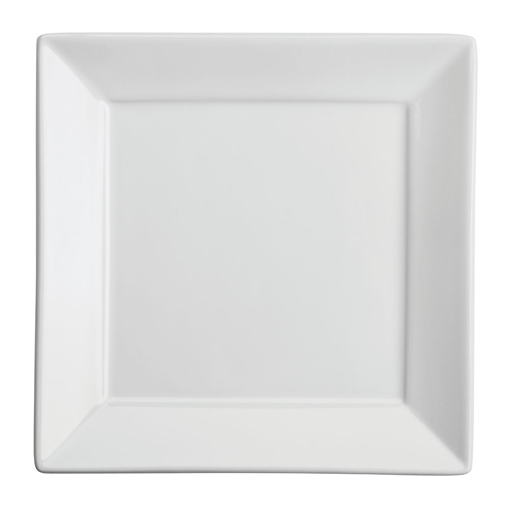 """Homer Laughlin 08210000 4.5"""" Square Times Square Plate - China, Arctic White"""