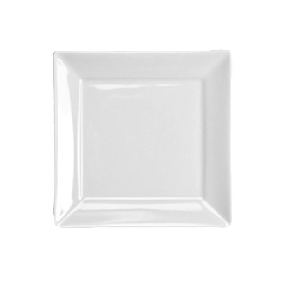 "Homer Laughlin 08510000 7.38"" Square Times Square Plate - China, Arctic White"