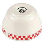 Homer Laughlin 1015413 7.25-oz Bouillon Bowl - China, Ivory w/ Red Checkers
