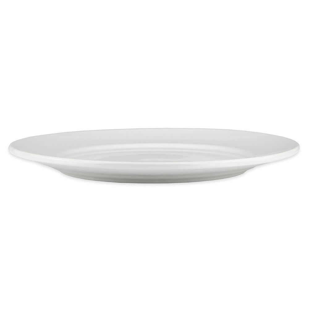 "Homer Laughlin 121310000 12.25"" Round RE-21 Plate - China, Arctic White"