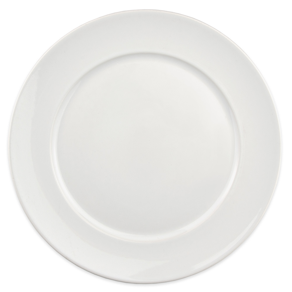 "Homer Laughlin 121310000 12.25"" Round RE-21 Plate - China, Arctic White"