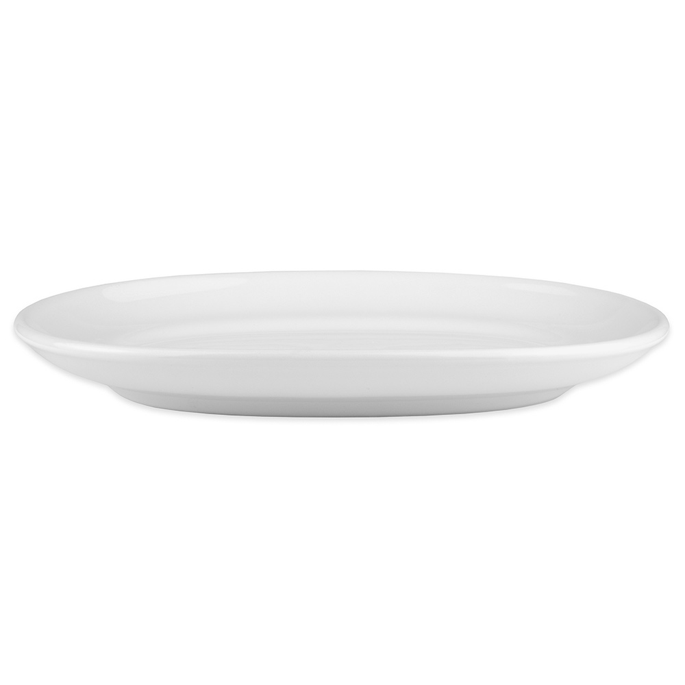 """Homer Laughlin 122310000 10"""" Oval RE-21 Platter - China, Arctic White"""