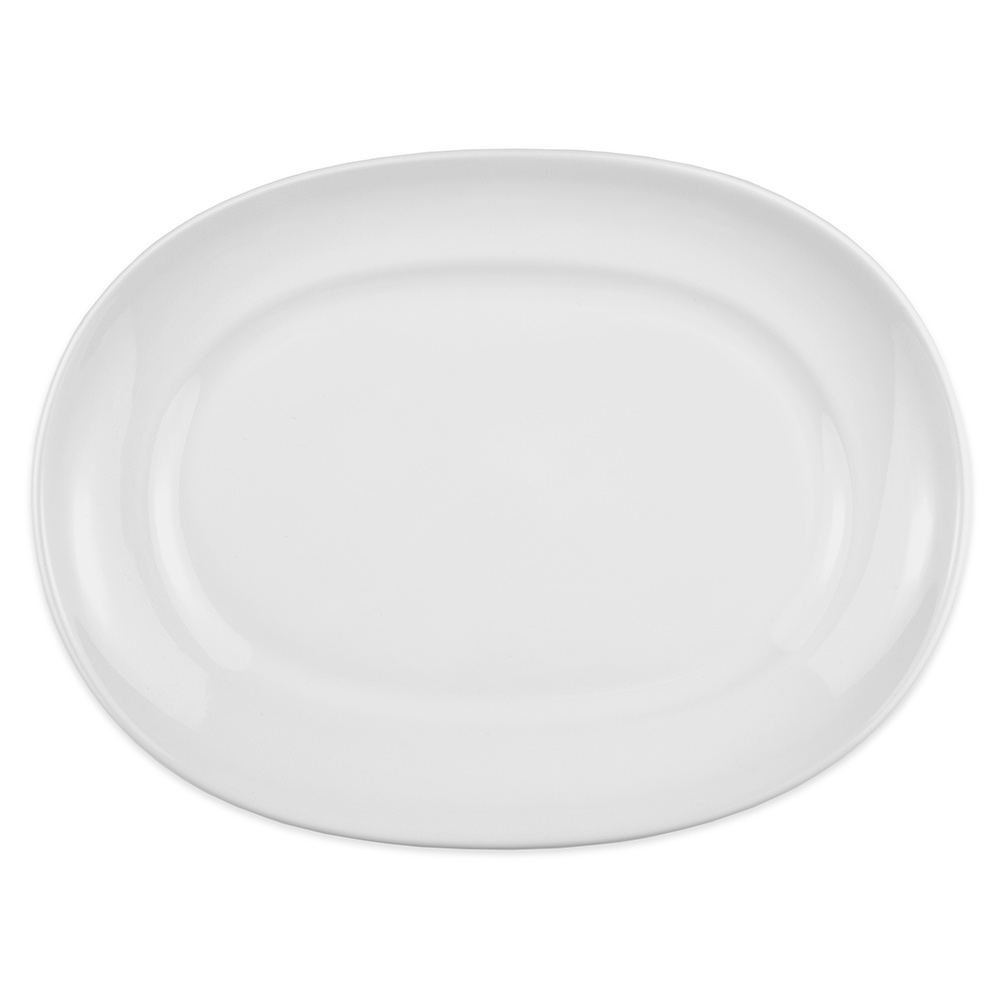 "Homer Laughlin 122410000 12"" Oval RE-21 Platter - China, Arctic White"