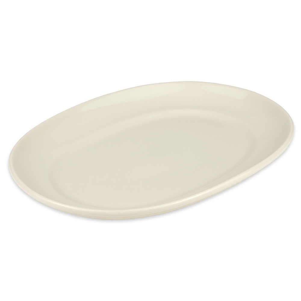 """Homer Laughlin 12242100 12"""" Oval RE-21 Platter - China, Ivory"""