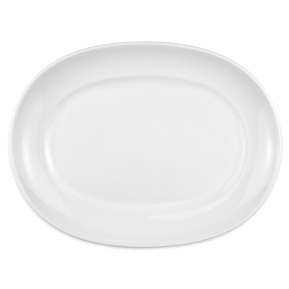 """Homer Laughlin 122510000 14"""" Oval RE-21 Platter - China, Arctic White"""
