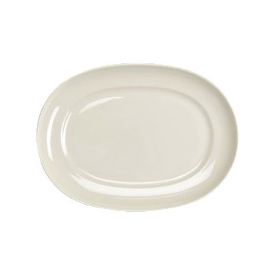 """Homer Laughlin 12252100 14"""" Oval RE-21 Platter - China, Ivory"""