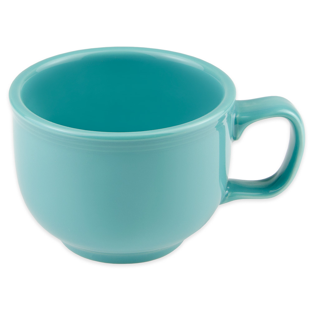 Homer Laughlin 149107 18-oz Colorations Jumbo Cup - China, Turquoise