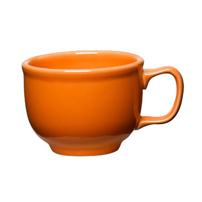 Homer Laughlin 149325 18-oz Colorations Jumbo Cup - China, Tangerine