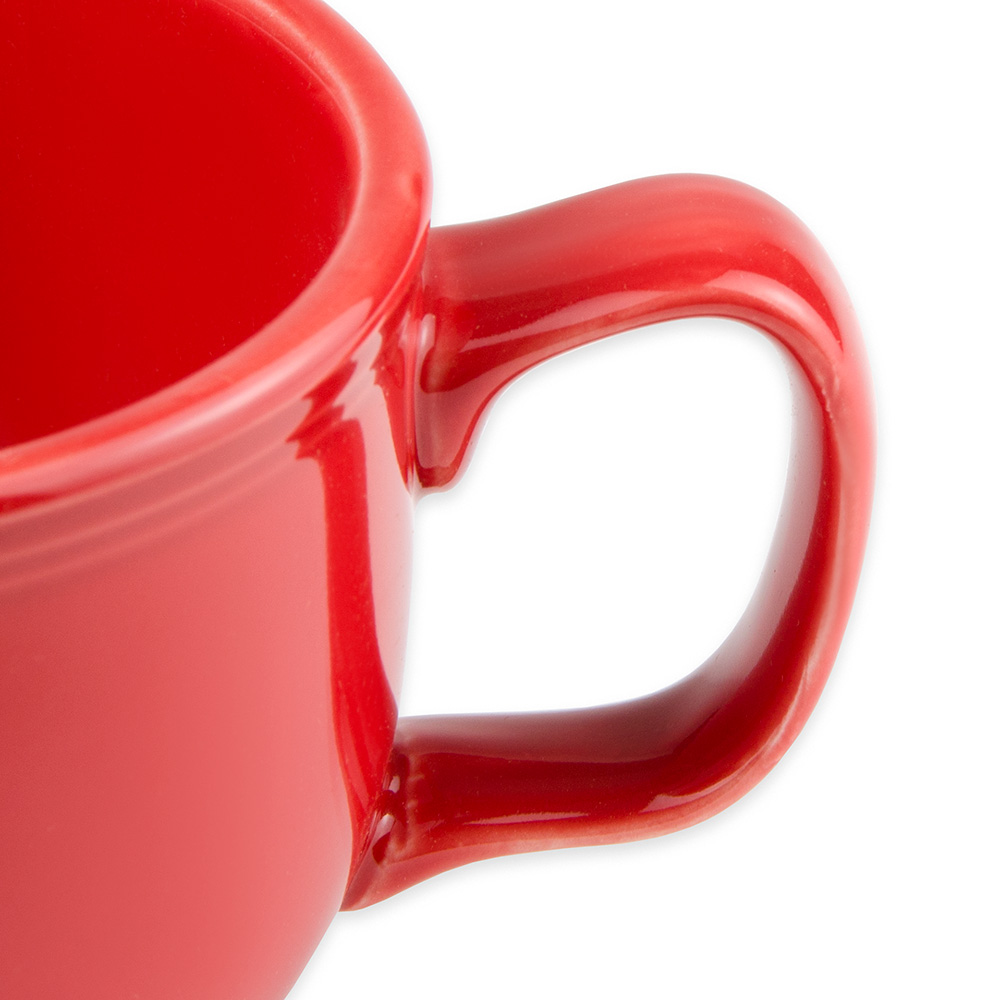 Homer Laughlin 149326 18-oz Colorations Jumbo Cup - China, Scarlet