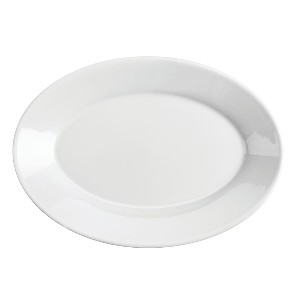 "Homer Laughlin 15310000 9.5"" Oval Platter - China, Arctic White"