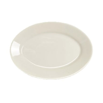 "Homer Laughlin 15500 11.75"" Oval Platter - China, Ivory"