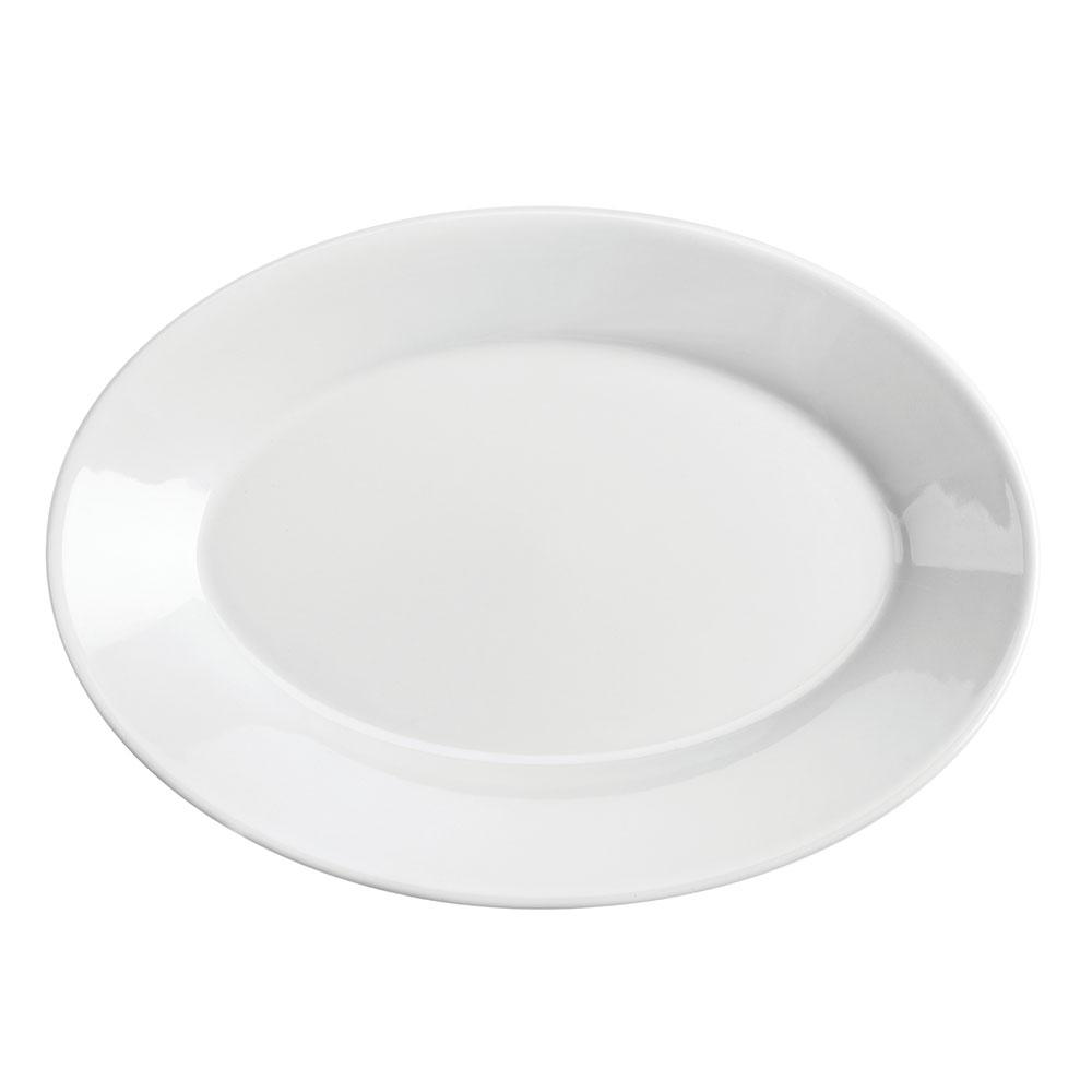 "Homer Laughlin 15510000 11.75"" Oval Platter - China, Arctic White"