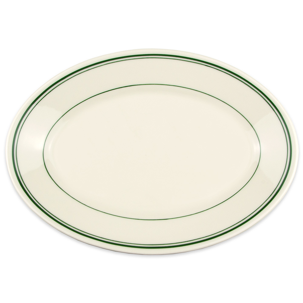 Homer Laughlin 1551 11.75 Oval Platter - China, Ivory w/ ...