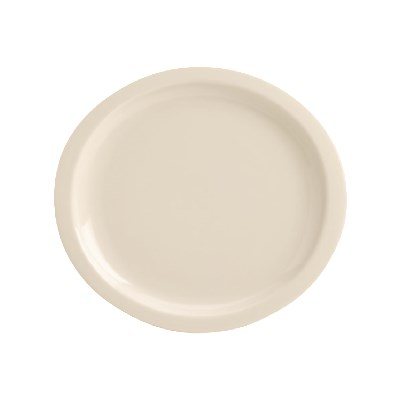 """Homer Laughlin 158800 12.13"""" Oval Newell Plate - China, Ivory"""
