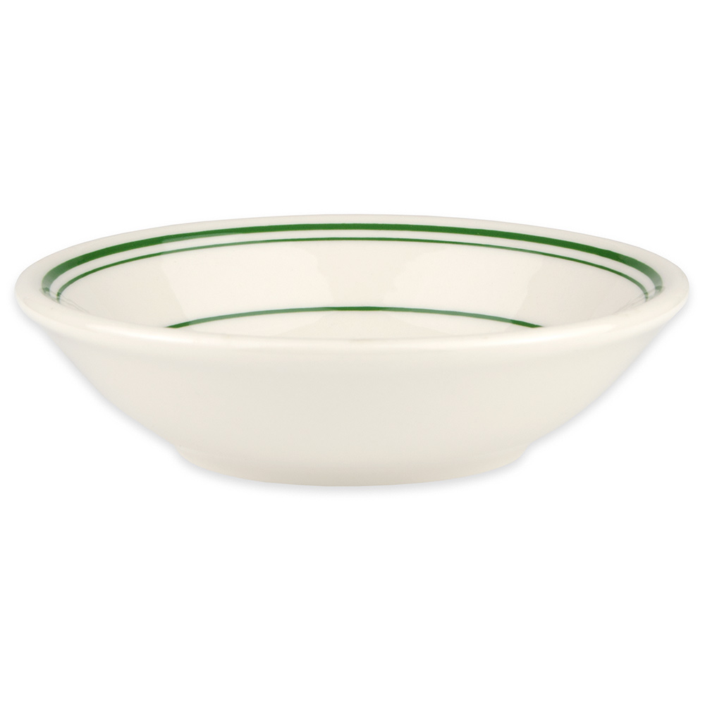 Homer Laughlin 1631 6-oz Fruit Bowl - China, Ivory w/ Green Band