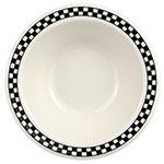 Homer Laughlin 1701636 9-oz Grapefruit Bowl - China, Ivory w/ Black Checkers