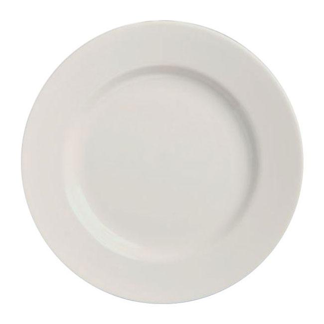 "Homer Laughlin 20010000 5.38"" Round Plate - China, Arctic White"